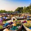 Chương trình tour du lịch miền Tây mùa nước nổi 5 ngày 4 đêm - Chợ nổi cái răng