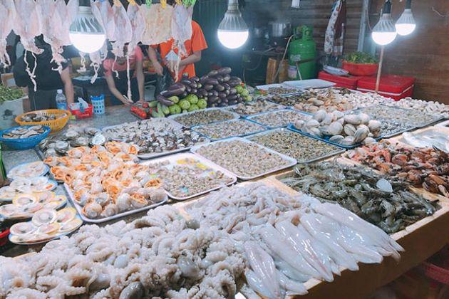đặc sản của sầm sơn hải sản tươi sống