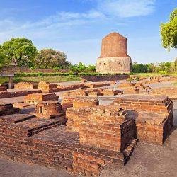 Tour du lịch hành hương đất phật Ấn Độ Nepal 10 ngày 9 đêm - Đại tháp Dhamek Sarnath